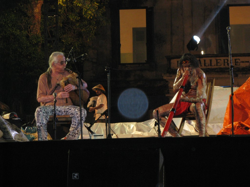 Kim with Glen Doyle, Solo International Ethnic Music Festival, Indonesia, 2008